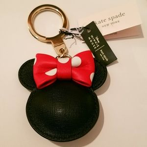 NWT: Authentic Kate Spade Minnie Mouse Bag Charm